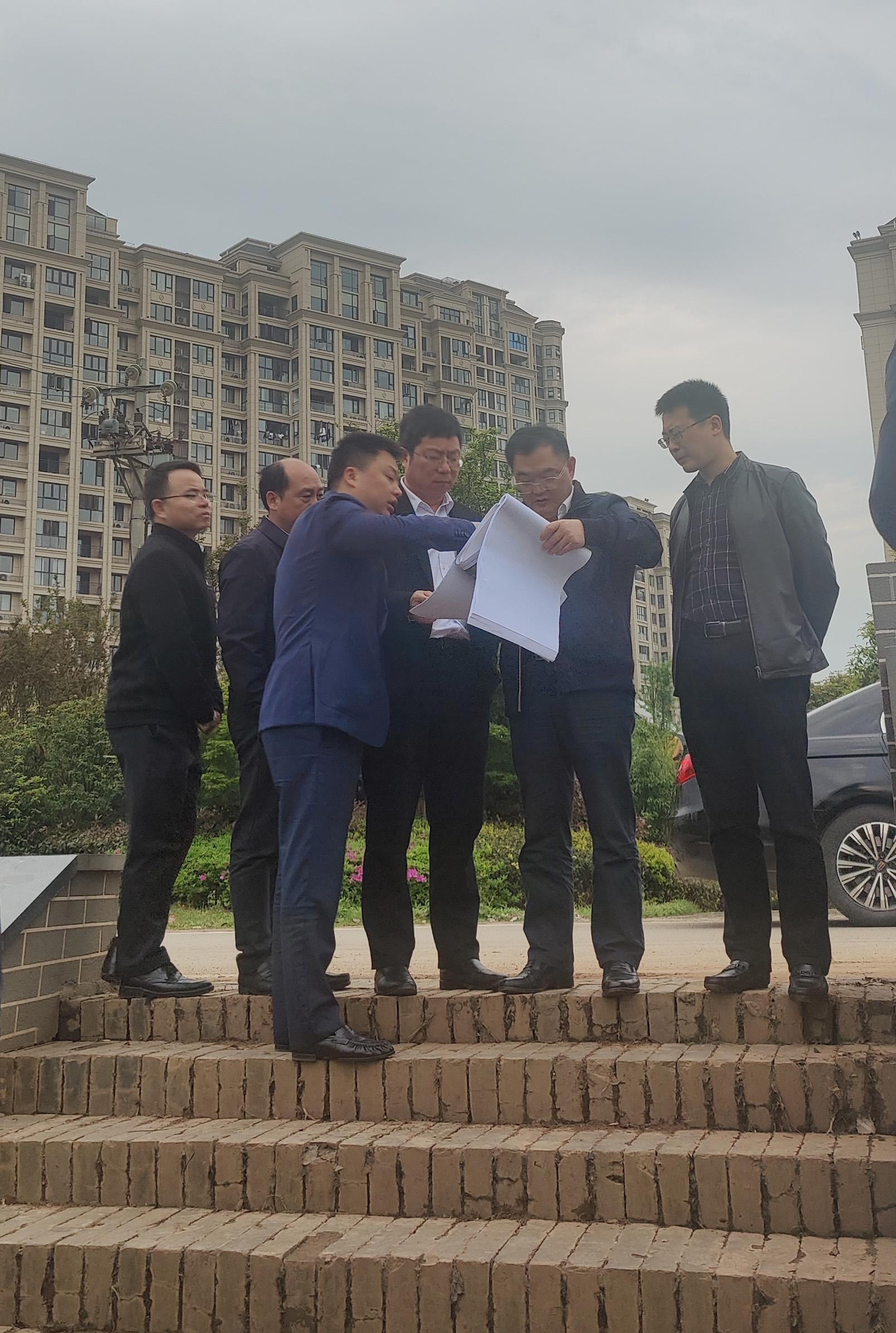 叶县长莅临青岚湖水环境综合治理项目现场调度
