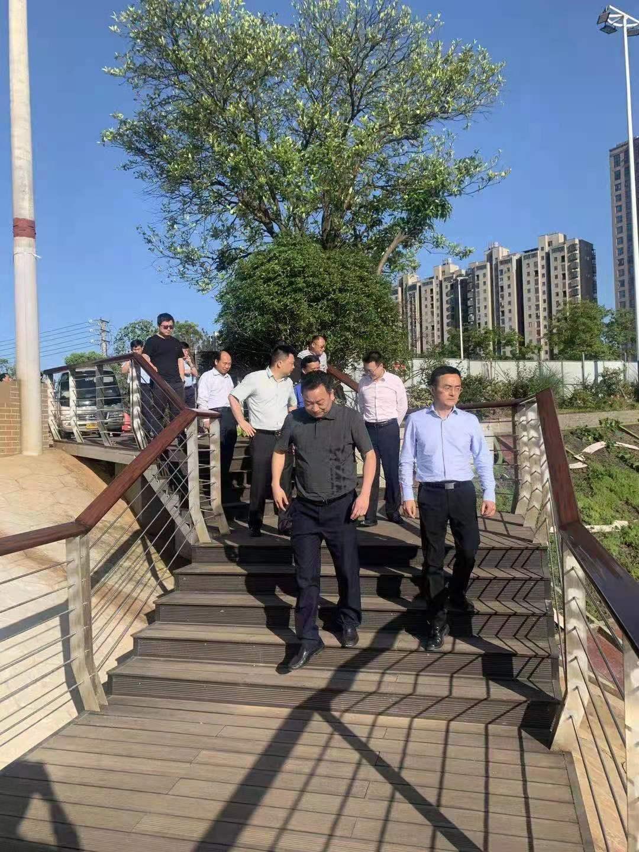 县领导对城投集团多个项目点进行观摩调研